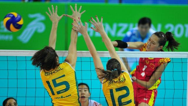 BRA vs. CHN (Women's Volleyball Final)   Shenzhen 2011   #UniSportsClassics