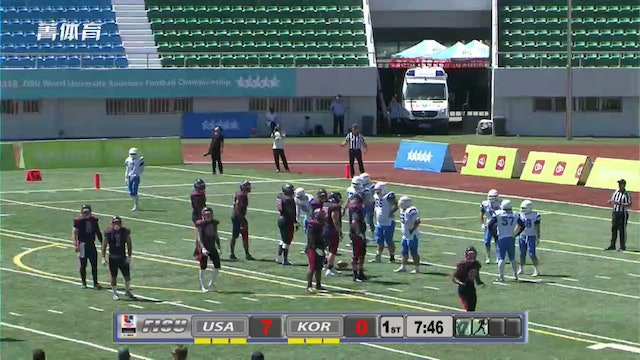 USA vs KOREA - American Football - FISU World University Championships