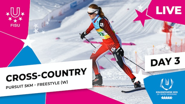 Cross-Country Skiing | Women's Pursuit 5km | Winter Universiade 2019