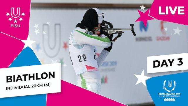 Biathlon   Men's Individual 20km   Winter Universiade 2019