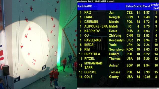Climbing - Speed Final - FISU World University Championship