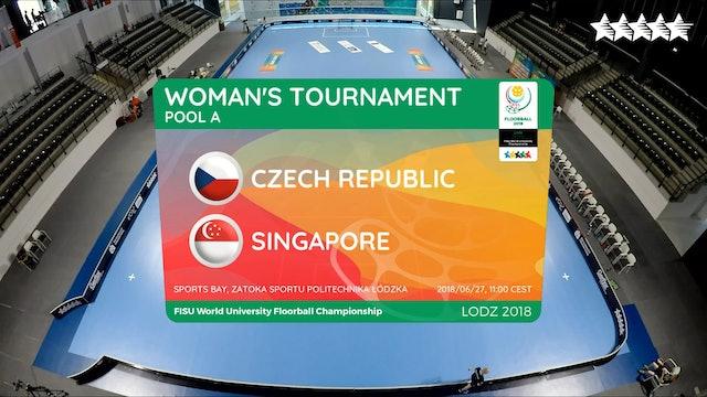 LIVE - Floorball - CZE vs SGP - FISU 2018 World University Championship - Women Group B - Day 2