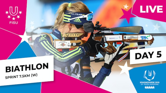 Biathlon | Women's Sprint 7.5km | Winter Universiade 2019
