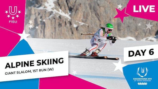 Alpine Skiing | Women's Giant Slalom (1) | Winter Universiade 2019