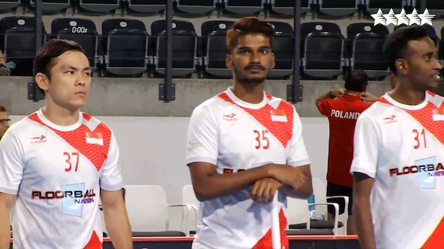 LIVE - Floorball - POL vs SGP - FISU 2018 World University Championship - Men Group A - Day 2