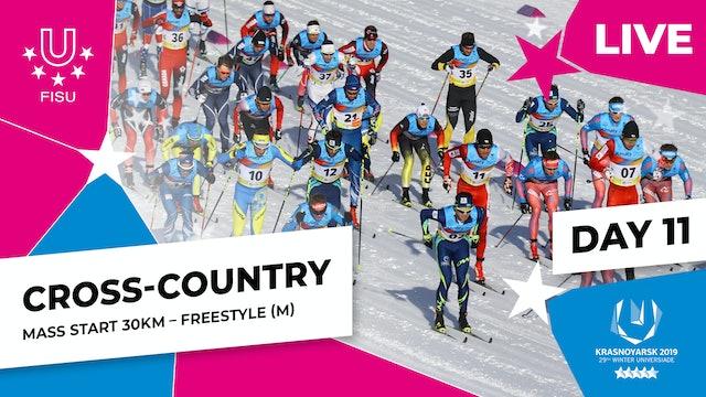 Cross-Country Skiing | Men's Mass Start 30km | Winter Universiade 2019