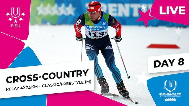 Cross-Country Skiing | Men's Relay 4x7.5km | Winter Universiade 2019