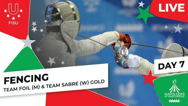 Fencing | Team Foil (M) & Team Sabre ...