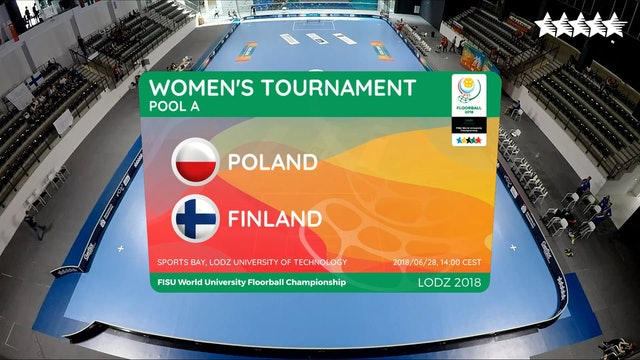 LIVE - Floorball - POL vs FIN - FISU 2018 World University Championship - Women Group A - Day 3