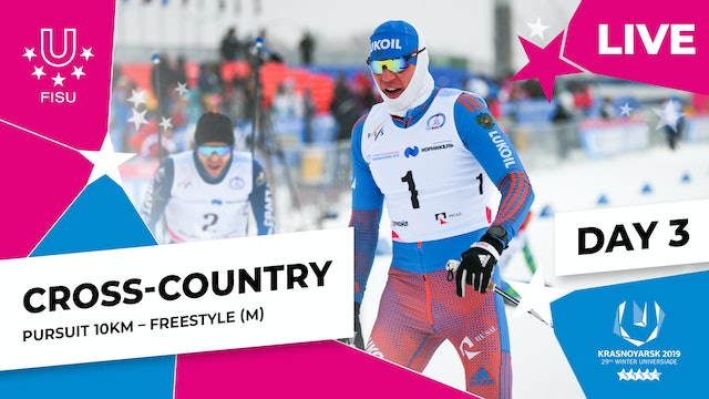 Cross-Country Skiing | Men's Pursuit 10km | Winter Universiade 2019