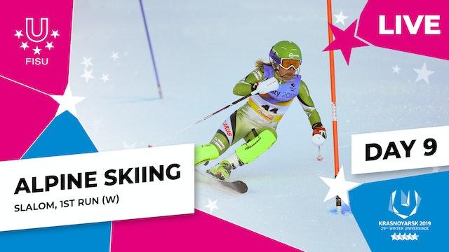 Alpine Skiing | Women's Slalom (1) | Winter Universiade 2019