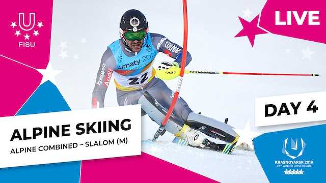 Alpine Skiing | Men's Combined Slalom | Winter Universiade 2019