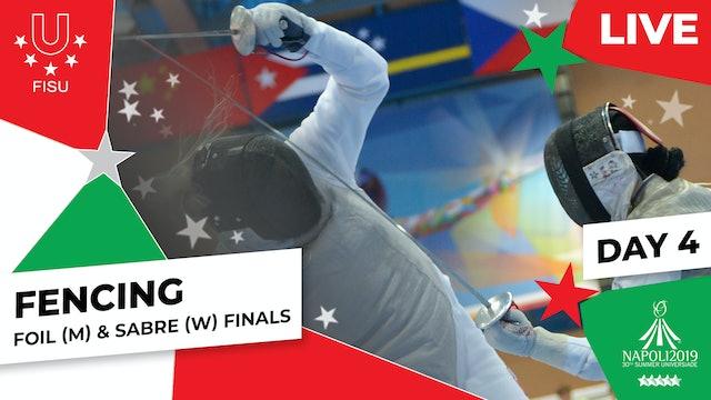 Fencing | Foil (M) & Sabre (W) Finals |Summer Universiade 2019