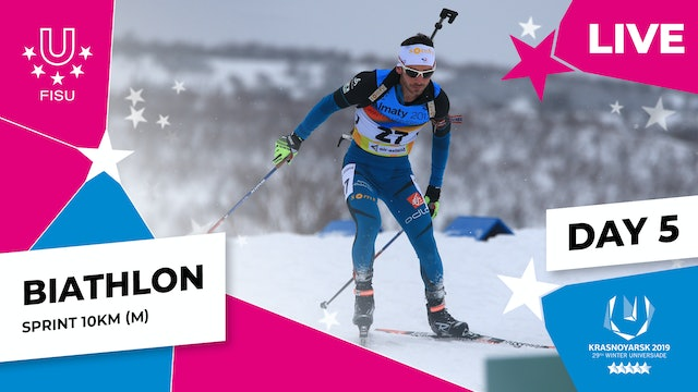 Biathlon | Men's Sprint 10km | Winter Universiade 2019