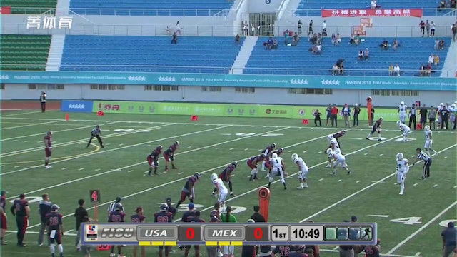 Mexico vs USA - American Football World University Championship