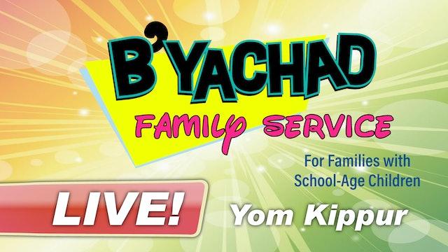 B'Yachad Family Service Yom Kippur