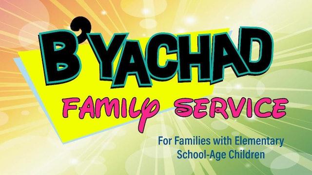 B'Yachad Family Service (Elementary) Yom Kippur at 10:30am