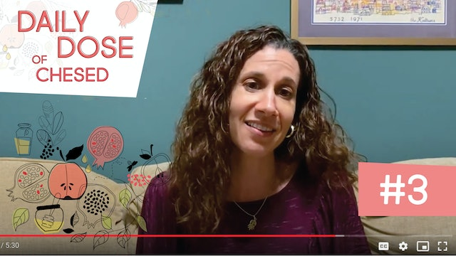Daily Dose of Chesed #3 with Ali Hurwitz-Kelman