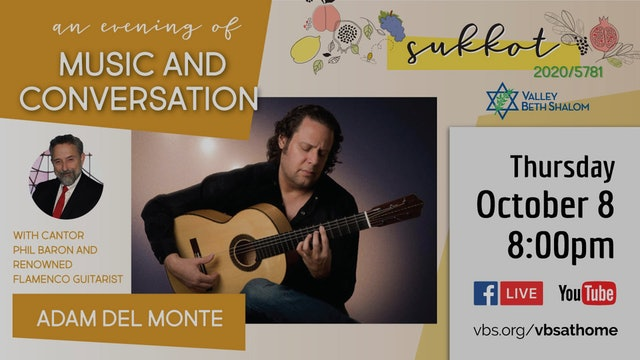 Music and Conversation with Cantor Phil Baron and Guitarist Adam Del Monte