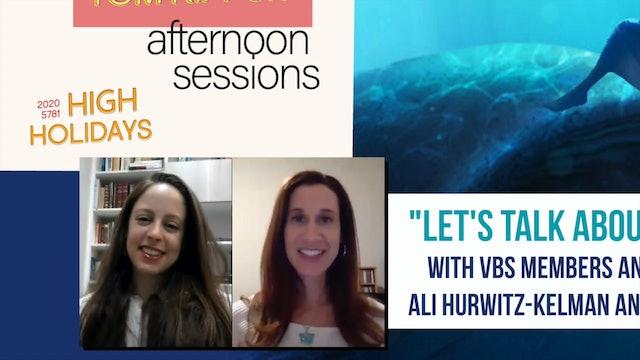 """Let's Talk About Jonah"" with Ali Hurwitz-Kelman and Robin Melameth"