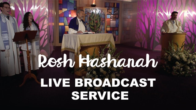 Live Broadcast Service - Rosh Hashanah Day One at 10:00am