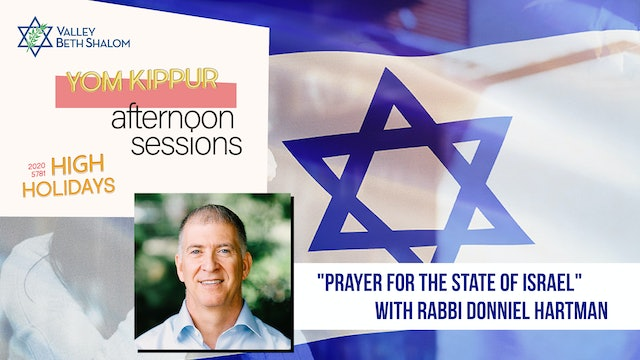 Prayer for the State of Israel with Donniel Hartman