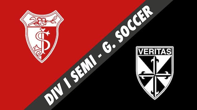 Div I Semifinals Girls Soccer: St. Joseph's vs Dominican