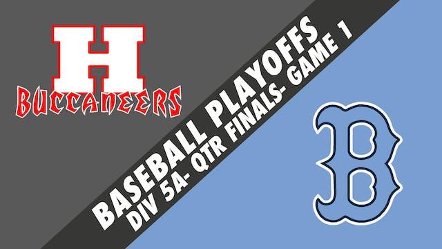 Baseball Playoffs- Game 1: Haughton v...