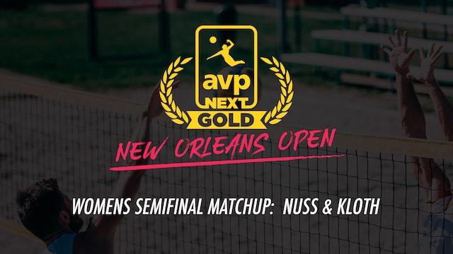 AVPNext Gold Womens Semifinal: Nuss/Kloth Win