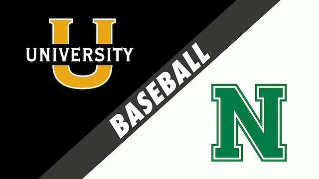 Baseball: U-High vs Newman