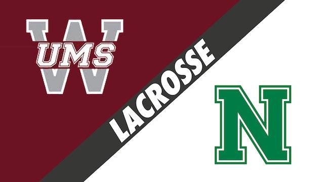 Lacrosse: UMS-Wright (AL) vs Newman