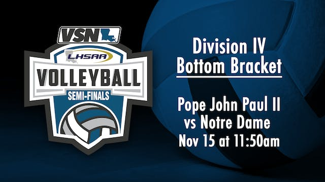 Div IV Playoffs: Pope John Paul II vs...
