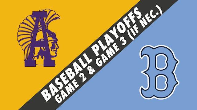 Baseball Playoffs- Game 2: Alexandria...
