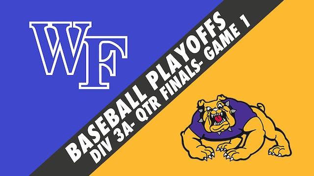 Baseball Playoffs- Game 1: West Felic...