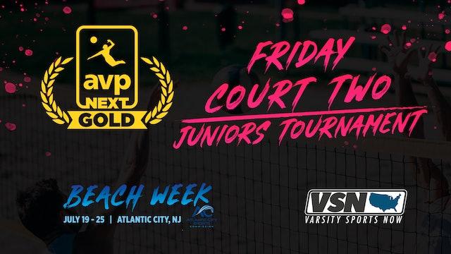 AVPNext Gold Tournament: Friday Court Two- Juniors Tournament