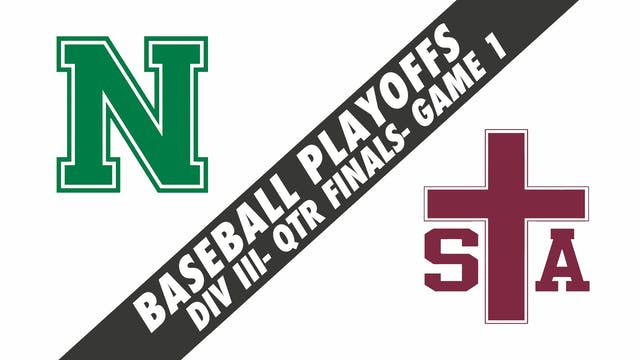 Baseball Playoffs- Game 1: Newman vs ...