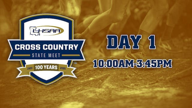 Cross-Country State Meet: Day 1