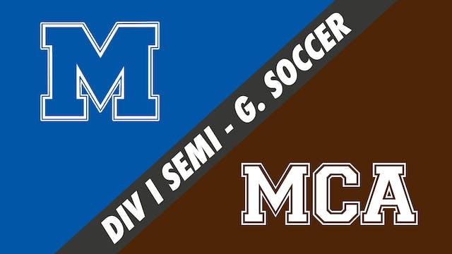 Div I Semifinals Girls Soccer: Mandev...
