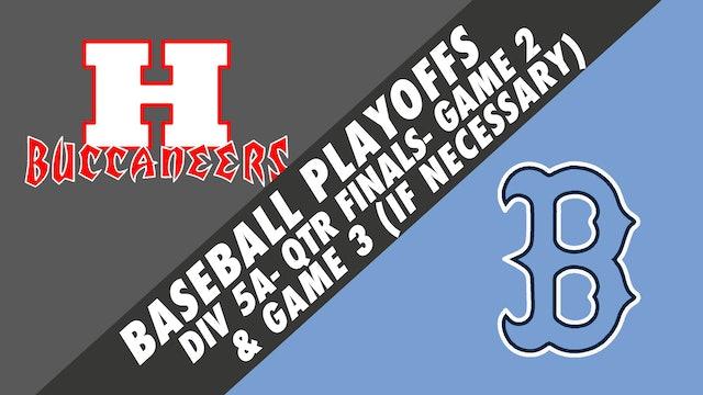 Baseball Playoffs- Game 2: Haughton vs Barbe