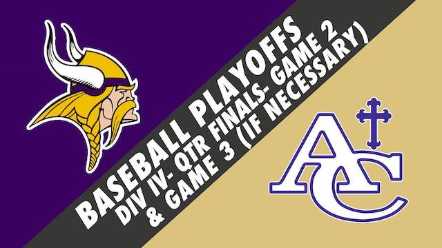 Baseball Playoffs- Game 2: Opelousas ...