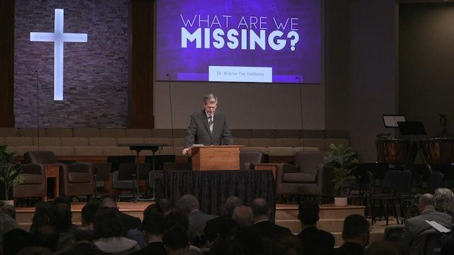 What Are We Missing? Wayne Van Gelderen