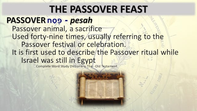 The Seven Jewish Feasts: Passover