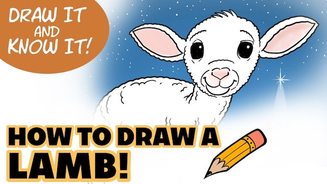 Draw It And Know It - Art Lesson Edition - How To Draw A Lamb