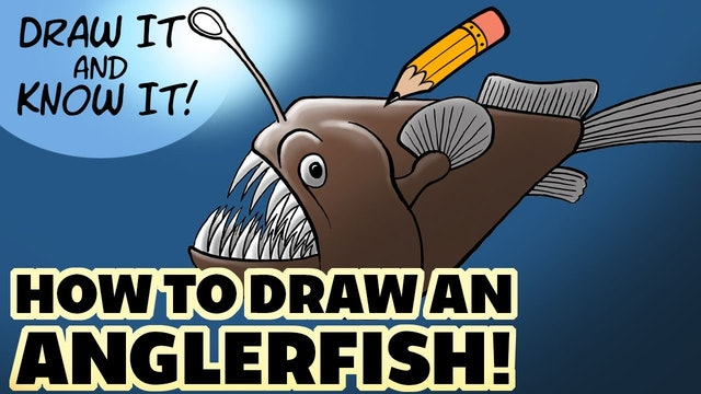 Draw It And Know It - Art Lesson Edition - How To Draw An Anglerfish