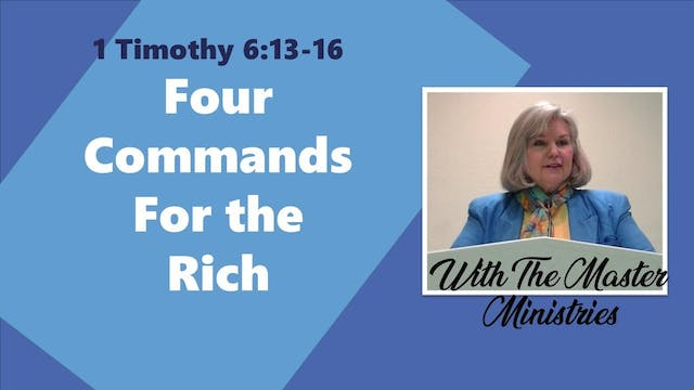 Four Commands For The Rich