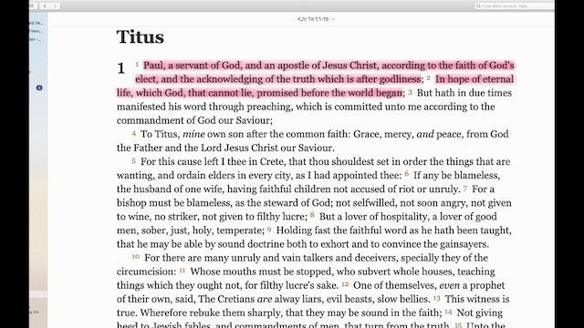 Titus, Philemon, and James