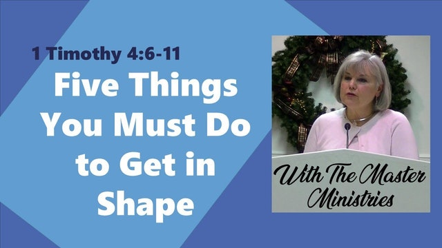 Five Things You Must Do To Get In Shape