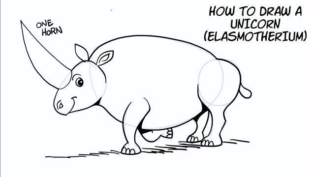 Draw It And Know It - Art Lesson Edition - How To Draw An Elasmotherium