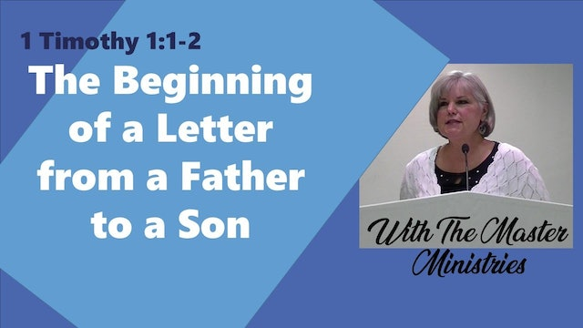 The Beginning Of A Letter Of A Father To A Son