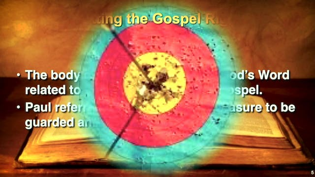 Contending for the Purity of the Gospel
